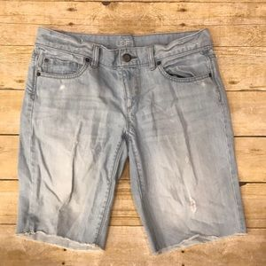 Ann Taylor Loft Distressed Bermuda Shorts Size 2